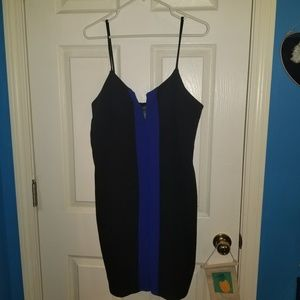 Black and Blue Tight Dress